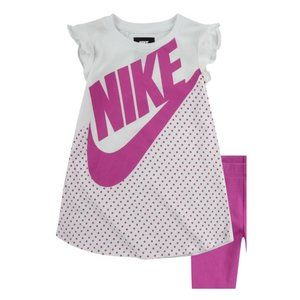 Nike Futura Dress & Leggings Set (Baby Girls)